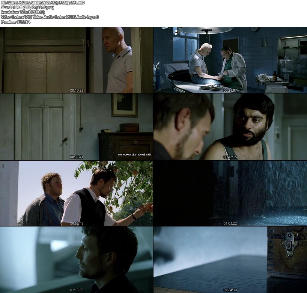 Adams Apples 2005 480p BRRip 300MB x264 Screenshot