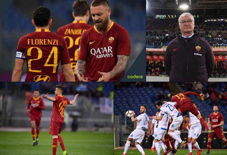 Roma-Empoli 2-1, esordio vincente di Ranieri in panchina.