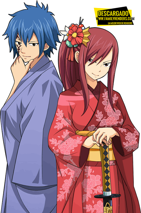 Jellal and Erza render New Year