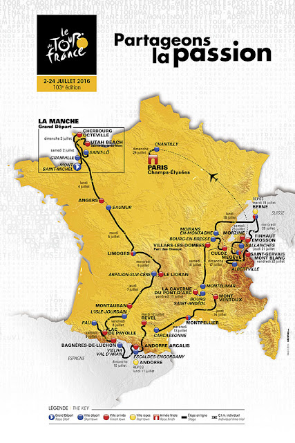 Tour De France Route Map 2016