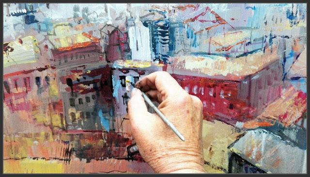 MANRESA-CASTELL-PINTURA-PANORAMICA-CASES-PLASTICA-ART-FOTOS-PINTANT-QUADRES-PAISATGES-PINTOR-ERNEST DESCALS