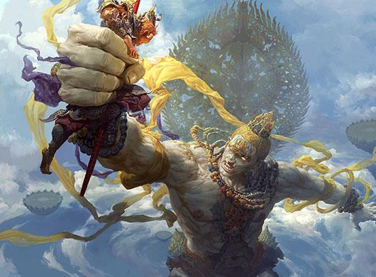 Fenghua Zhong - http://www.artstation.com/artwork/buddha-palm