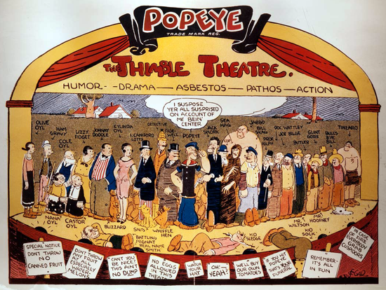 Popeye, Thimble Theatre cast in 1932
