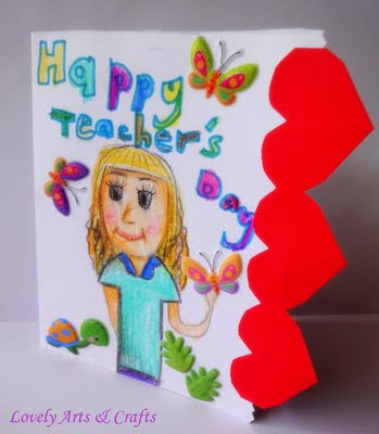 art and craft ideas for teachers day lovely arts amp crafts v 7 s day card 7958