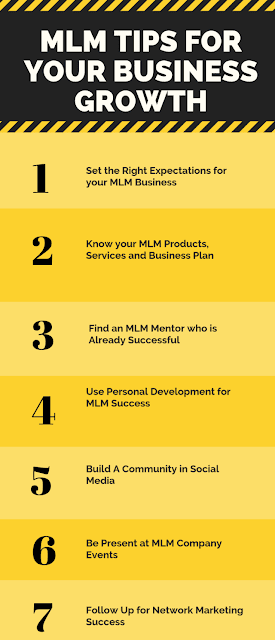 mlm tips business growth network marketing steps success multilevel marketer