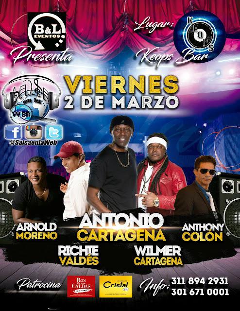► Antonio Cartagena, Richie Valdes, Anthony Colón y Arnold Moreno en Concierto