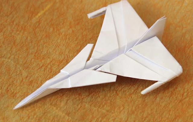 Hướng dẫn gấp máy bay giấy Jas 39  phong cách Origami