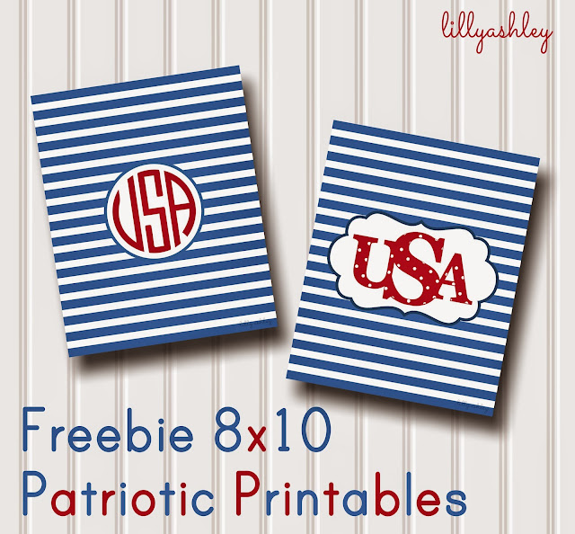 USA Memorial Day Fourth of July free printables