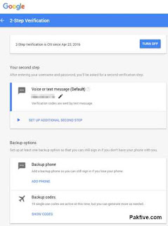 2-step Verification options
