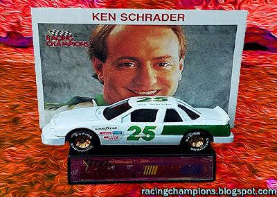 Ken Schrader #25 Racing Champions 1/64 NASCAR diecast blog Rick Hendrick custom