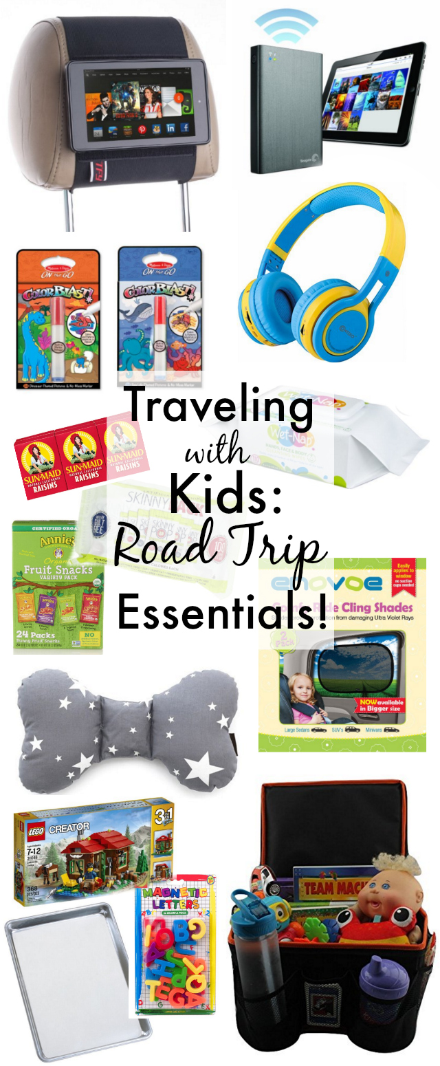 Family Road trip essentials to keep kids happy and entertained