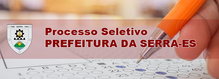 Processo Seletivo SEDU da Serra (ES) Apostilas
