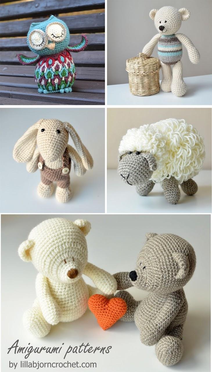 Amigurumi crochet patterns by Lilla Bjorn