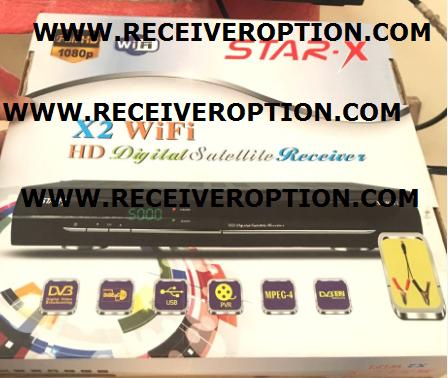 STAR-X X2 WIFI HD RECEIVER AUTO ROLL POWERVU KEY NEW SOFTWARE