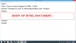 body of HTML structure