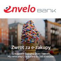 EnveloBank - zwrot do 200 zł rocznie za e-zakupy