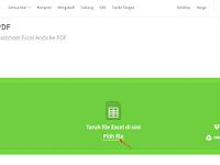 Cara Termudah Merubah Excel Ke PDF Via Offline dan Online
