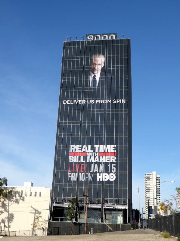 Giant Real Time with Bill Maher season 14 billboard Sunset Strip