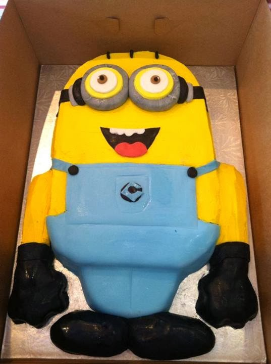 Flat Minion Birthday Cake