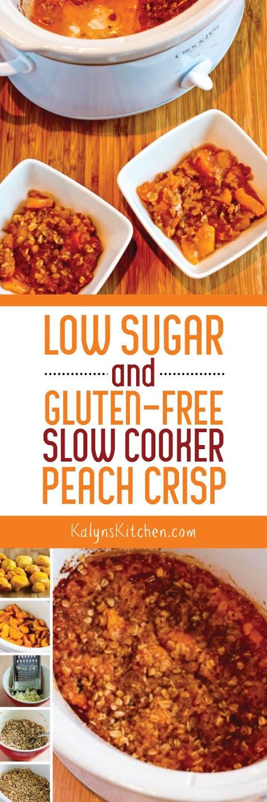 Low-Sugar and Gluten-Free Slow Cooker Peach Crisp - Kalyn ...