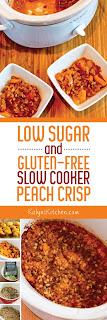 Kalyn's Kitchen®: Low-Sugar and Gluten-Free Slow Cooker Peach Crisp