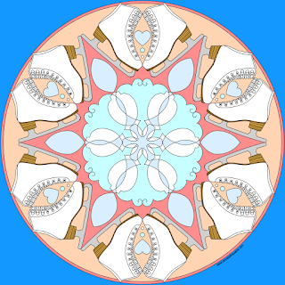 figure skating mandala -blank version to print and color available