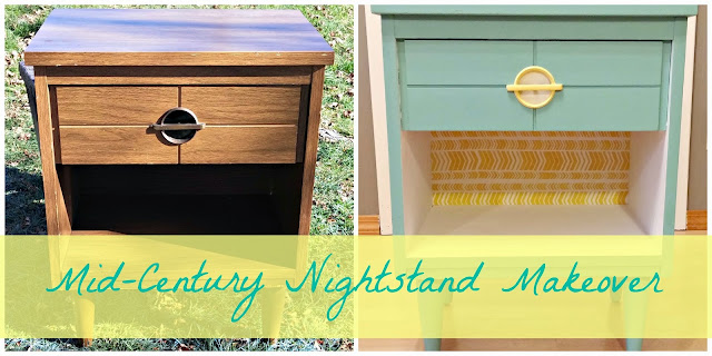 MCM nightstand makeover