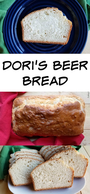 Homemade beer bread is so easy to make and a perfect accompaniment to stew, soup, chili and more.  It is also perfect on it's own with just a schmear of butter!