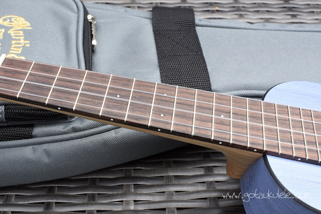 Martin OX Bamboo Soprano Ukulele fingerboard