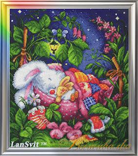 Cross-stitch Lan Svit D-003 «Good Night, My Honey Bunny»