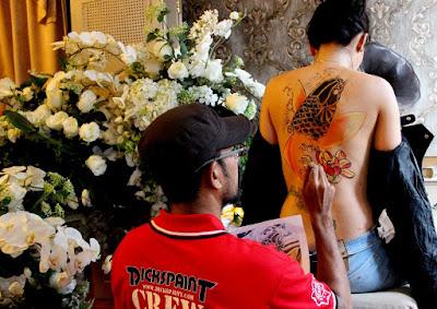 Body Painting Koi Yakuza Jakarta Indonesia