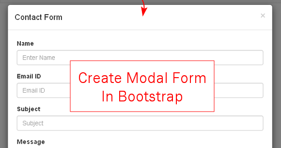 Twitter Bootstrap Modal Form Example - Creating Contact Form