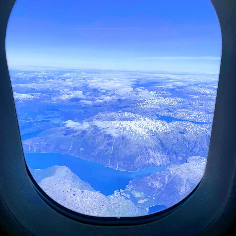 空から見るフィヨルド / 27レグ ノルウェー・ベルゲン→フィンランド・ヘルシンキ / AY804【2019年の搭乗メモ】
