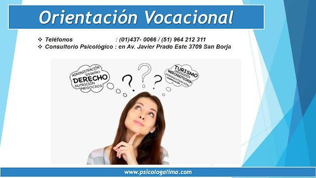 Ayuda Psicológica en Lima - Orientación Vocacional en Lima San Borja