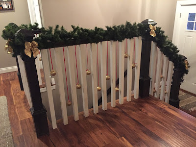 #millsnewhouse, Christmas decorating, stairway decorations