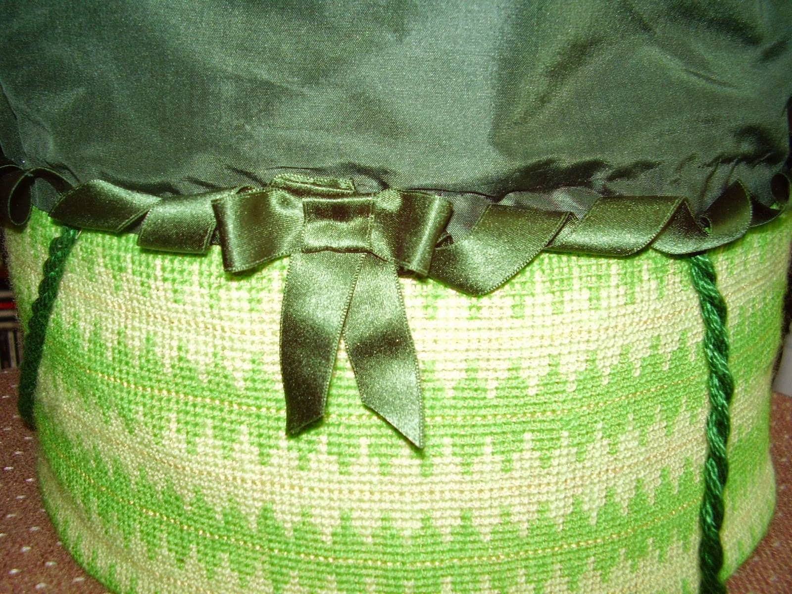 Bow on work basket.