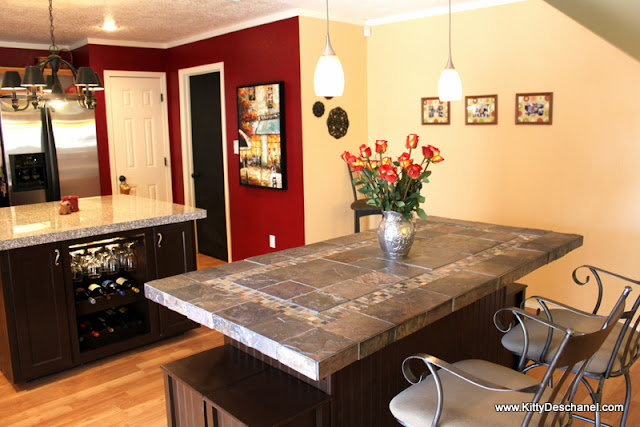 wine bar in the kitchen island