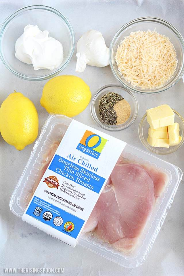 Ingredients for Parmesan Crusted Chicken Recipe Baked On a Sheet Pan