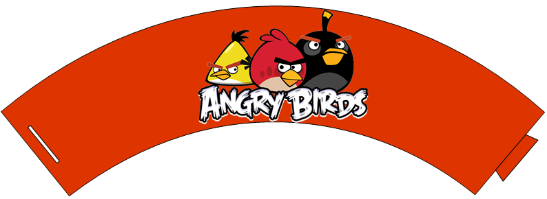 Free Cupcake Wrappers: Angry Birds