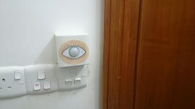Simplest 220v motion light switch