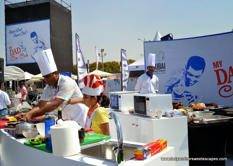 cooking competition at the Dubai Food Carnival