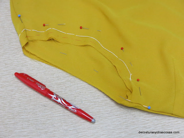 como arreglar sisas blusa camisera