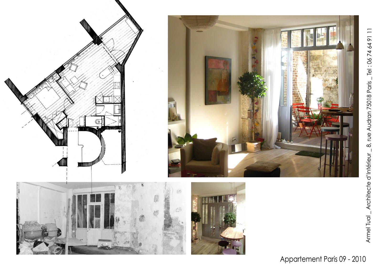 armel tual architecte d 39 int rieur cfai appartement de 40m2. Black Bedroom Furniture Sets. Home Design Ideas