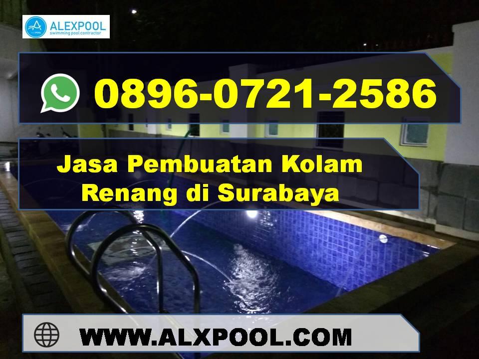 Jasa Kolam Renang Kota Surabaya Desain Menyesuaikan Dana dan Tempat yang Tersedia | Alex Pool | 0896 0721 2586