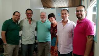Jairo Monteiro, Arthur Esteves, José Wanderley, Tatiana Ribeiro, o Secretário de Turismo, Elias Martins, e Rafael Canto