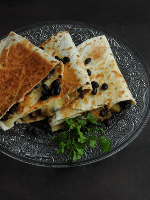 Black beans Potato Quesadillas