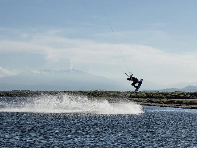 Session kitesurf au parc des dosses pour Kevin Hoorens