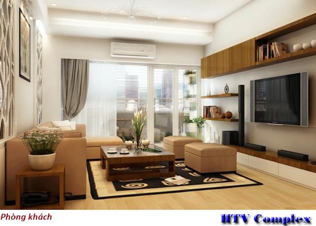 Phòng khách chung cư HTV Complex