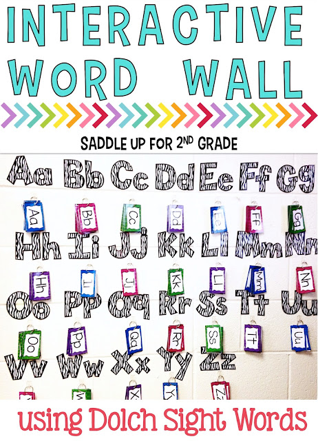 Are you tired of using traditional word walls that are never utilized? Interactive word walls are a great alternative. This one is used as a tool for my students to use with throughout the day. It contains the Dolch Sight Words and vocabulary that we've added to it throughout the year. It is by far one of my favorite tools in my classroom.