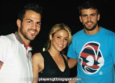 Gerard Piqué and his girlfriend